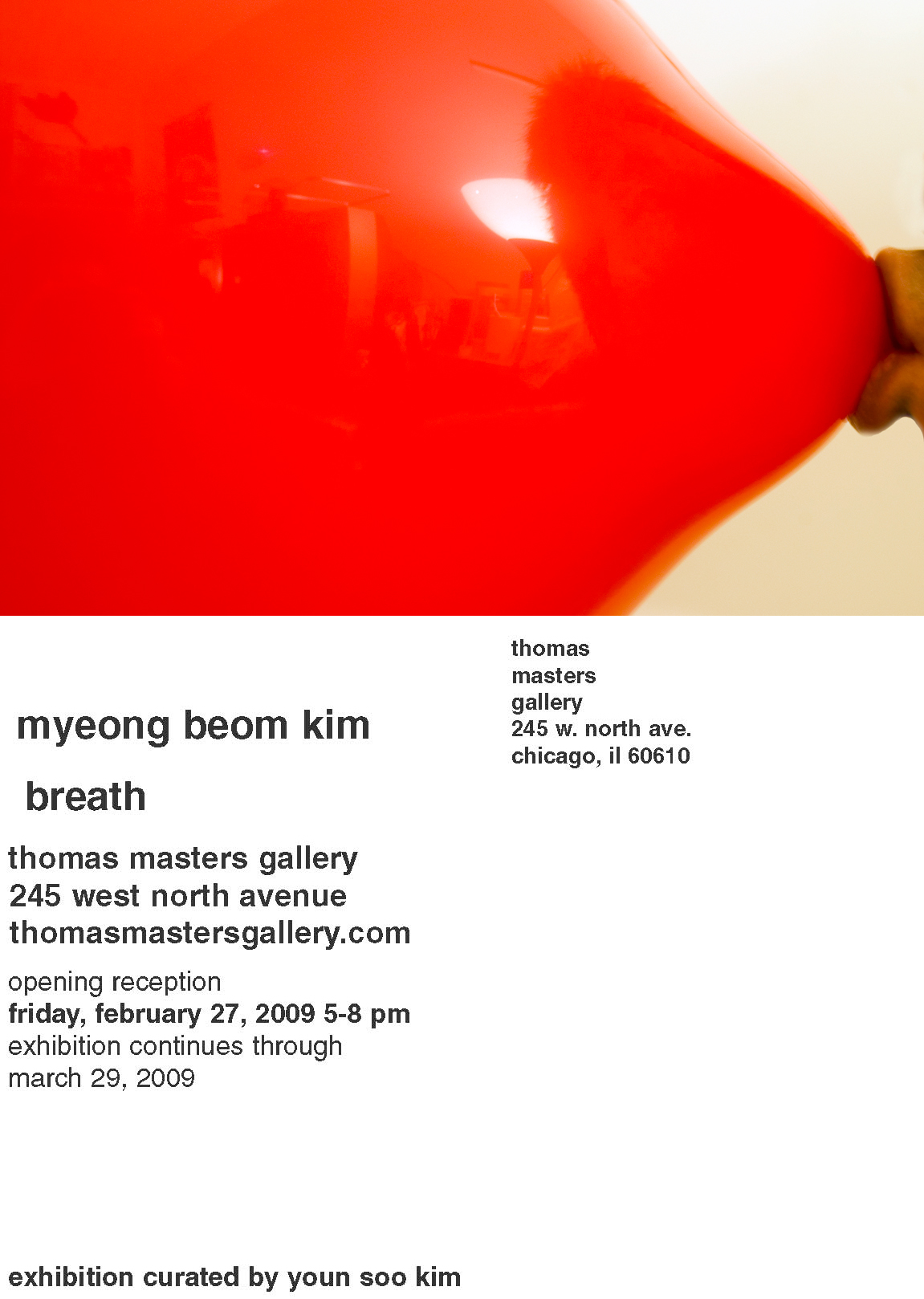 Solo Show -Breath 02.27.2009 - Myeongbeom Kim